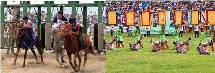 """蒙古族的传统盛会""""那达慕"""""""