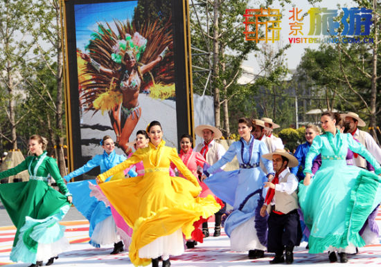 开幕式上表演的外国表演艺术家