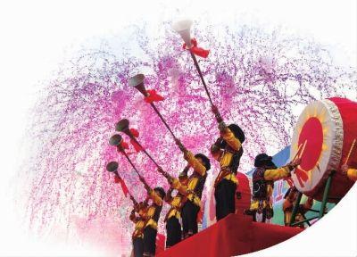 擂响鼓,吹起号,山歌节开幕了。资料图片