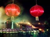 阳朔漓江渔火节